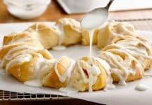 Croissant au citron et au fromage à la crème