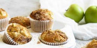 Muffins aux pommes et raisins secs