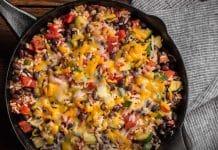 Poêlée de riz aux courgette et haricots