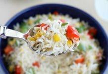 Riz aux poivrons et maïs