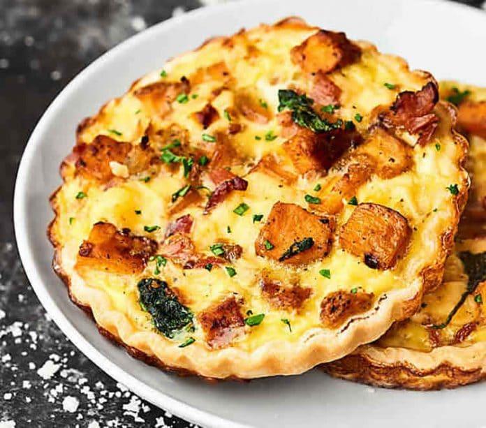 Tartelette au bacon et fromage