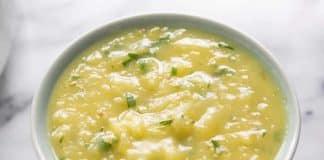 Soupe pomme de terre et poireaux au thermomix