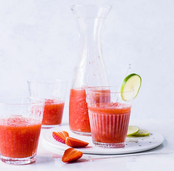Cocktail margarita de fraise au thermomix