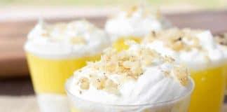 Dessert à la crème au citron