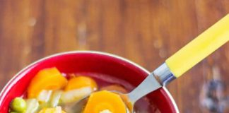 Soupe light riche en vitamine