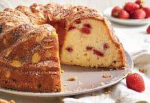 Cake amandes et fraises