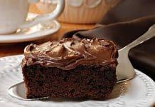 Cake chocolat avec glaçage