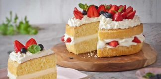 Gâteau chocolat blanc et fraises