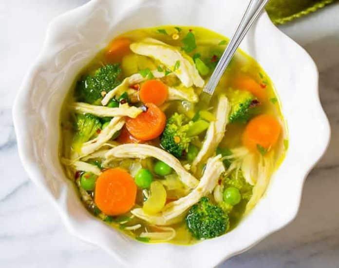 La meilleure soupe detox au poulet