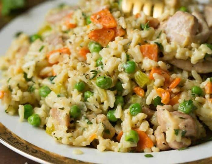 One pot poulet au riz au cookeo