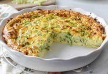 Quiche aux courgettes et fromage