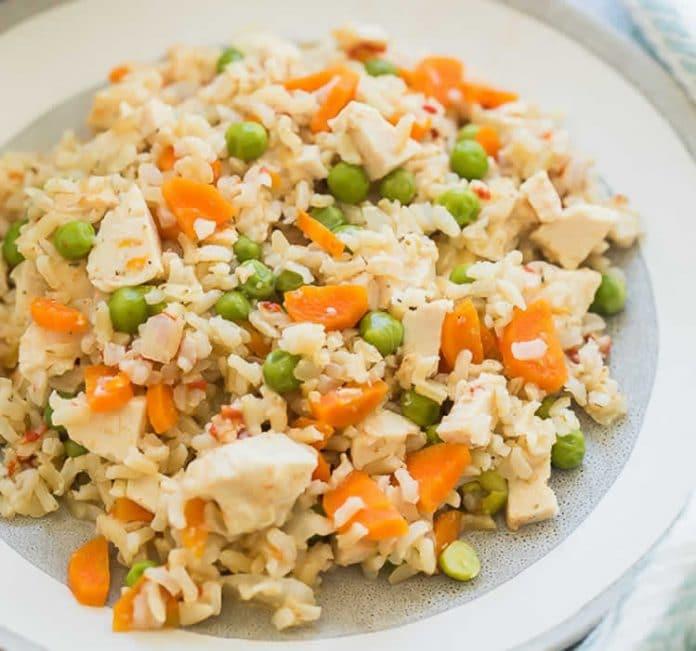 Riz au poulet et légumes au cookeo