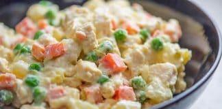 Salade pommes de terre et poulet