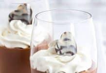 Verrines de chocolat à la crème