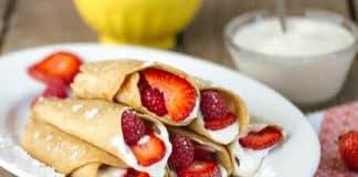 Crêpes au yaourt et fruits rouges