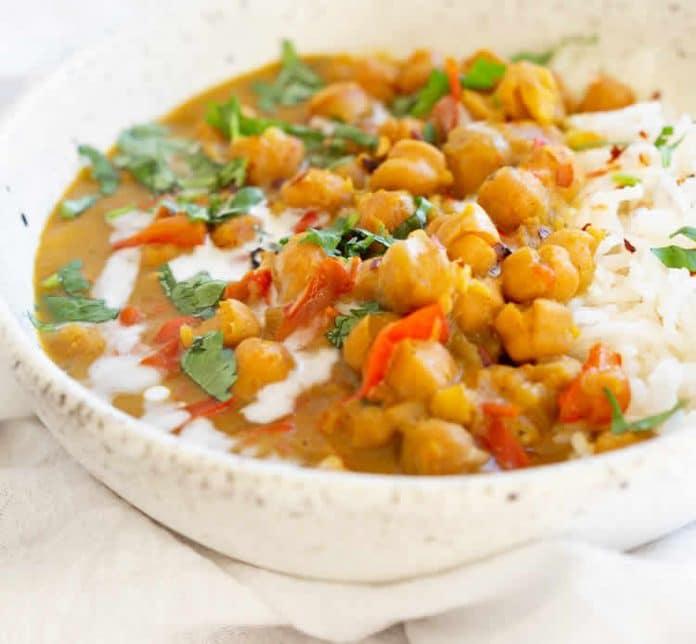 Curry de pois chiches au cookeo