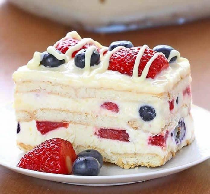 Gâteau à la vanille sans cuisson