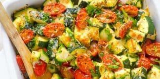 Gratin courgettes et tomates