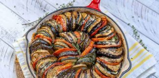 Poêlée de courgettes tomates et aubergines