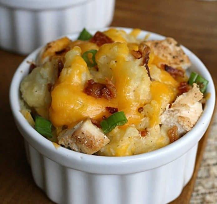 Ramequin aux pommes de terre et poulet