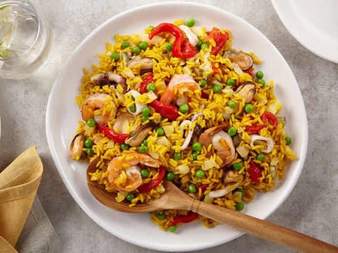 Riz et fruits de mer au cookeo