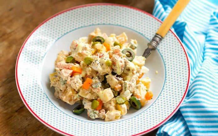Salade de pommes de terre et cornichons