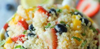 Salade quinoa aux fruits