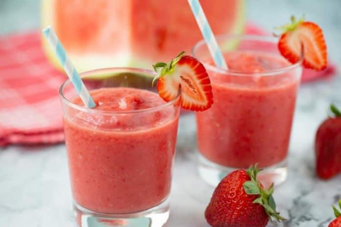 Smoothie pastèque et fraise au thermomix