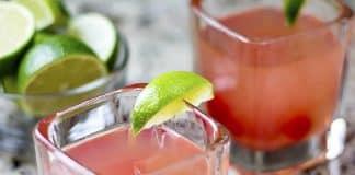 Cocktail à la vodka et cerises