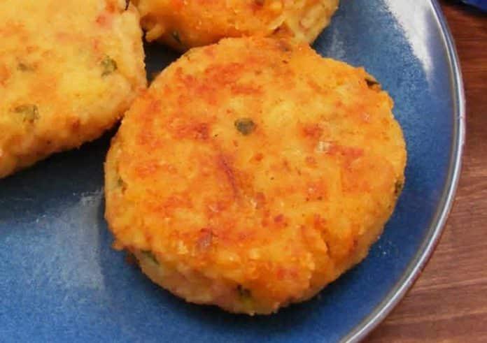 Beignets de pommes de terre au jambon