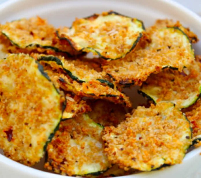 Chips de courgettes au four