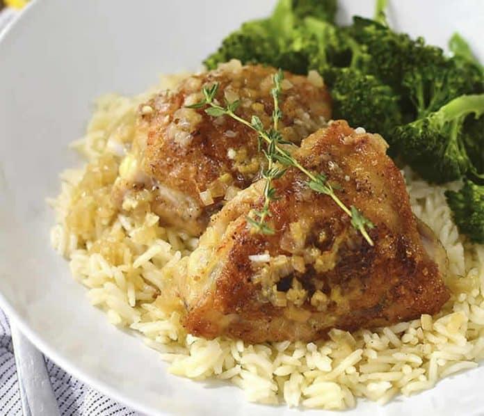 Cuisses de poulet au riz au cookeo
