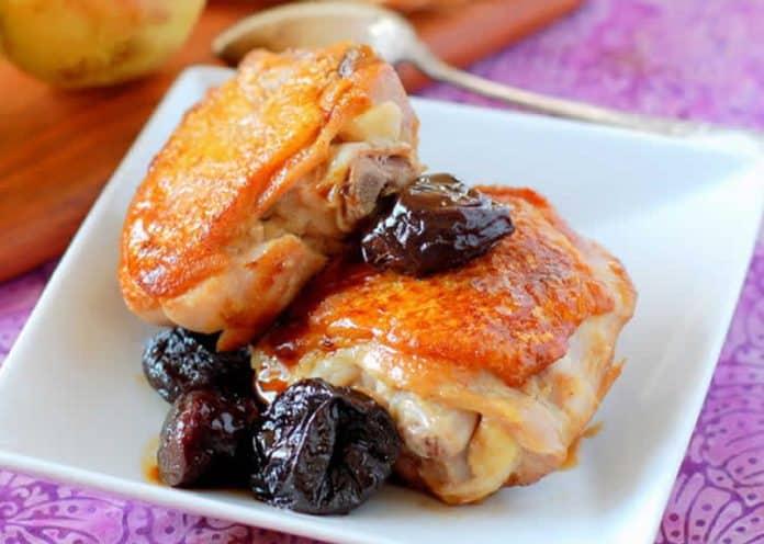 Cuisses de poulet et pruneaux au cookeo