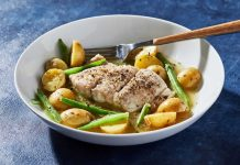 Filet de poisson avec pommes de terre et haricots au cookeo