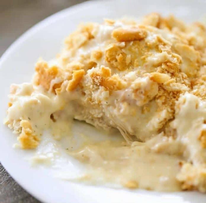 Filet de poulet à la crème et chips