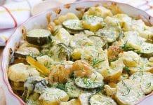 Gratin courgettes et pommes de terre