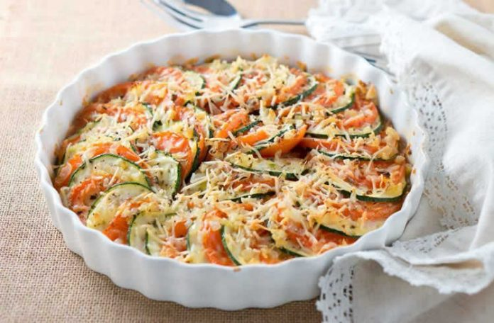 Gratin de courgettes tomates et parmesan