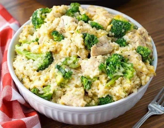 Poulet au riz et brocoli au cookeo