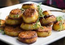 Rondelles de pommes de terre au four