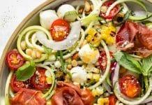 Salade aux courgettes tomates et mozzarella