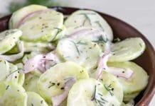Salade concombre au yaourt