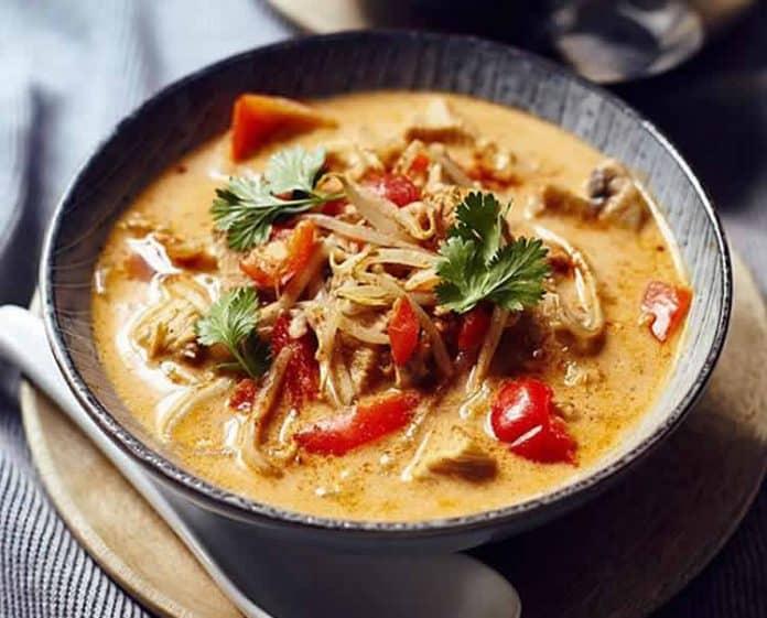 Soupe thaïlandaise de poulet au thermomix