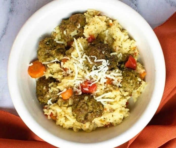Boulettes de viande au riz au cookeo
