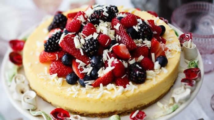 Cheesecake au chocolat blanc à la crème