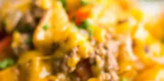 Poêlée de boeuf haché et légumes