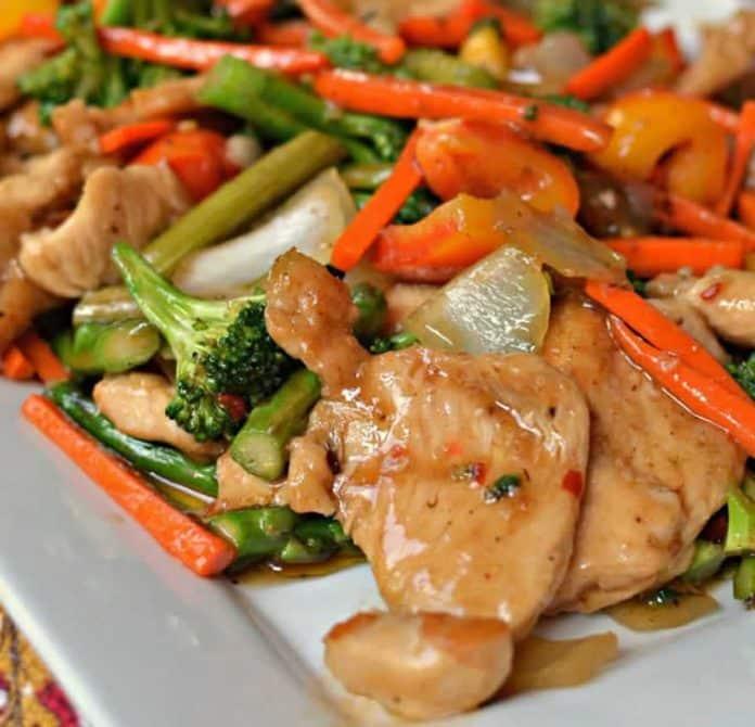 Poêlée de poulet aux légumes au cookeo