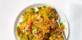 Riz aux crevettes et pois au cookeo