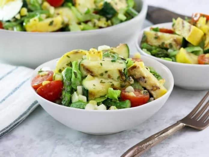 Salade de légumes grillés à la vinaigrette