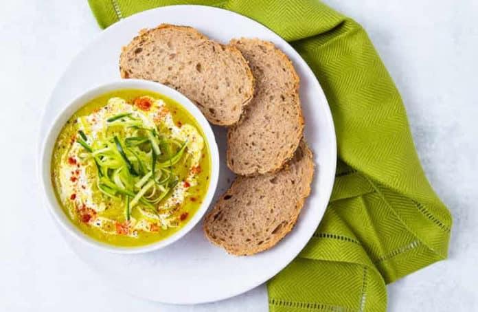 Soupe de courgettes et poireaux au cookeo