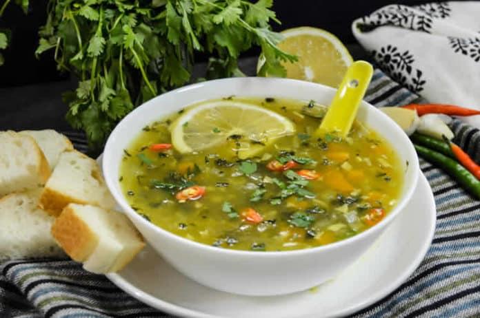 Soupe riche en vitamine C